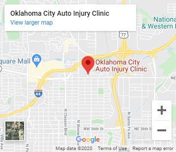 Map of Oklahoma City Auto Injury Clinic